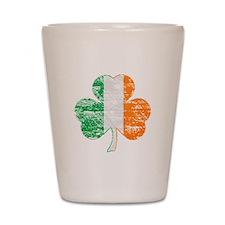 Vintage Irish Flag Shamrock Shot Glass