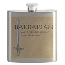 Barbarian Can I Kill Them Now Flask
