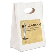Barbarian Can I Kill Them Now Canvas Lunch Tote
