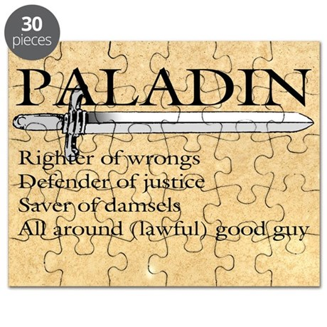Paladin - Lawful good guy Puzzle