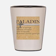 Paladin - Lawful good guy Shot Glass