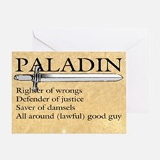 Paladin - Lawful good guy Greeting Card