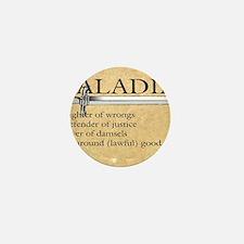 Paladin - Lawful good guy Mini Button