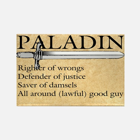 Paladin - Lawful good guy Rectangle Magnet