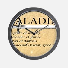 Paladin - Lawful good guy Wall Clock