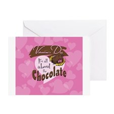 All About The Chocolate Greeting Cards