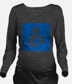 Breastfeeding Symbol Long Sleeve Maternity T-Shirt