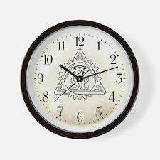 Steampunk Illuminati Wall Clock