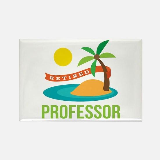 Retired Professor Rectangle Magnet