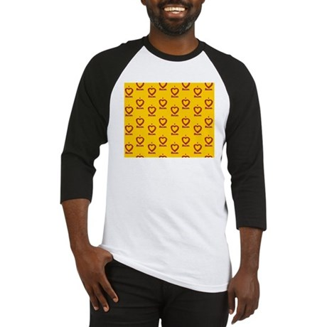 I Heart Bacon All Over - Yellow-Or Baseball Jersey