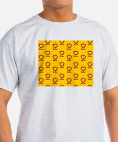 I Heart Bacon All Over - Yellow-Oran T-Shirt