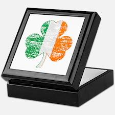 Vintage Irish Flag Shamrock Keepsake Box