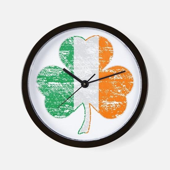 Vintage Irish Flag Shamrock Wall Clock