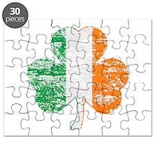Vintage Irish Flag Shamrock Puzzle