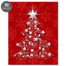 Sparkling Red Christmas Tree Puzzle