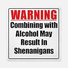 warning-alcohol-shenanigans Queen Duvet