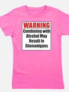 warning-alcohol-shenanigans Girl's Tee