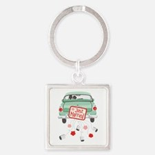 Just Married Car Keychains