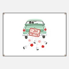 Just Married Car Banner