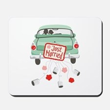 Just Married Car Mousepad