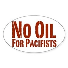 No Oil Oval Decal