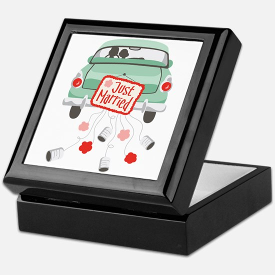Just Married Car Keepsake Box