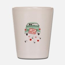 Just Married Car Shot Glass