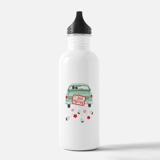 Just Married Car Water Bottle