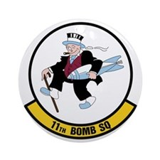 USAF: 11th Bomb Squadron Round Ornament