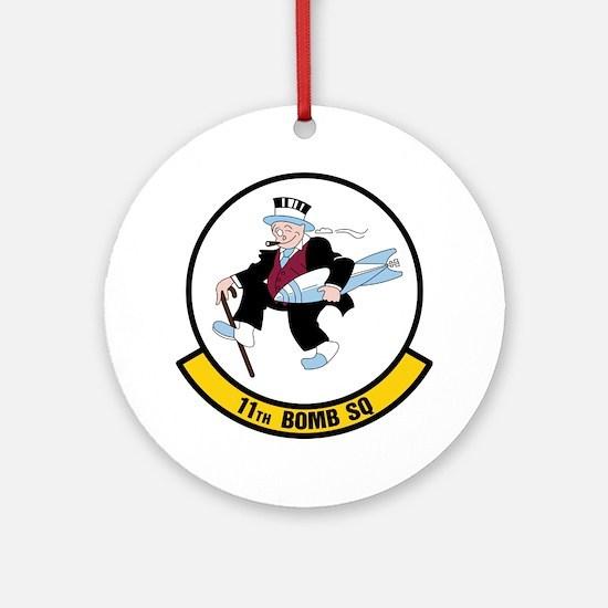 USAF: 11th Bomb Squadron Round Ornament