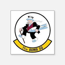 """USAF: 11th Bomb Squadron Square Sticker 3"""" x 3"""""""