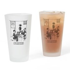 At Least Itll Be White Collar Crime Drinking Glass