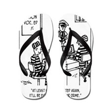 At Least Itll Be White Collar Crime Flip Flops