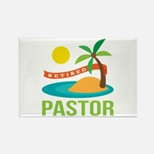 Retired Pastor Rectangle Magnet