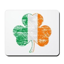 Vintage Irish Flag Shamrock Mousepad