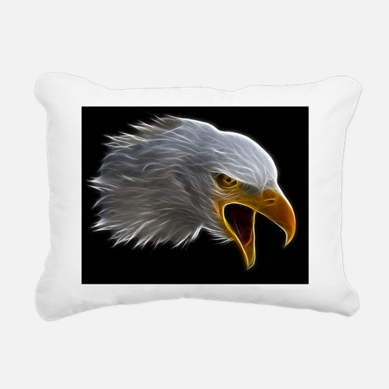 American Bald Eagle Head Rectangular Canvas Pillow