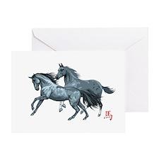 horseA67dark Greeting Card