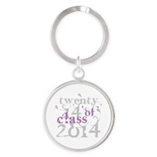 Swirly Class of 2014 Round Keychain