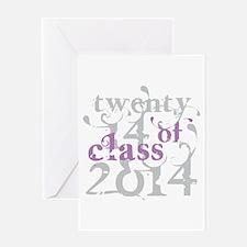 Swirly Class of 2014 Greeting Card