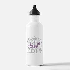 Swirly Class of 2014 Water Bottle