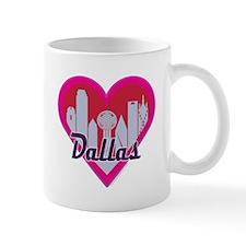 Dallas Skyline Hearts Mugs