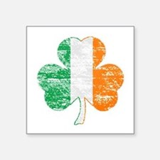 Vintage Irish Flag Shamrock Sticker