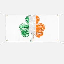 Vintage Irish Flag Shamrock Banner