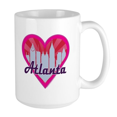 Atlanta Skyline Sunburst Hearts Mugs