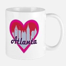 Atlanta Skyline Hearts Mugs