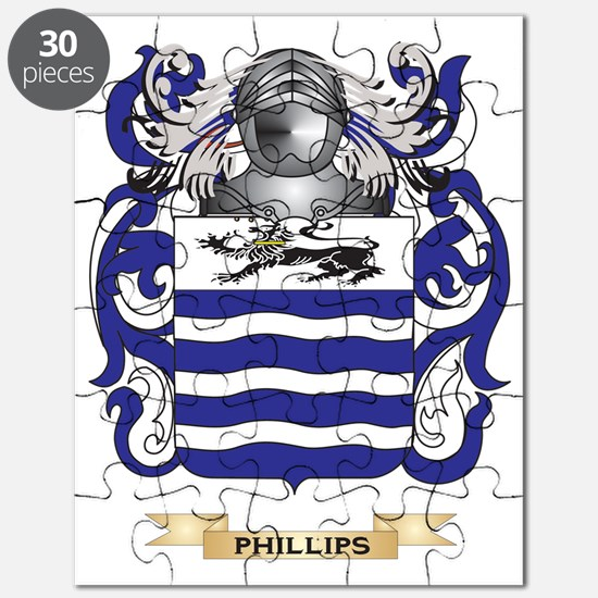 Phillips Coat of Arms (Family Crest) Puzzle