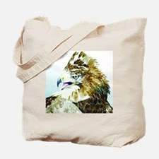 Red-tail Watercolor Tote Bag