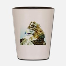 Red-tail Watercolor Shot Glass