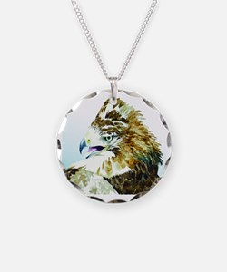 Red-tail Watercolor Necklace