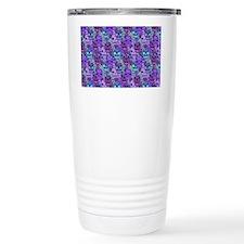 Purple Calavera Travel Coffee Mug